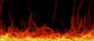 Modélisation de l'atmosphère solaire montrant à haute résolution la formation de courants électriques importants qui s'élèvent telles des flammes. © Tahar Amari / Centre de physique théorique
