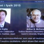جائزة نوبل في الفيزياء لعام 2015 تعود للعالمان الياباني تاكاكي كاجيتا والكندي آرثر بي ماكدونالد