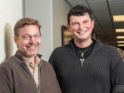 Mike Brown (left) and Konstantin Batygin. Caltech