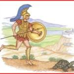 مقولة الفيلسوف زينون الشهيرة » لا يمكك تلتحق بالسلحفاة في السباق ، في حال أعطيت للسلحفاة الأفضلية في البدء «