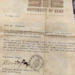 رسالة نادرة الى العالم الفيزيائي البرت اينشتاين