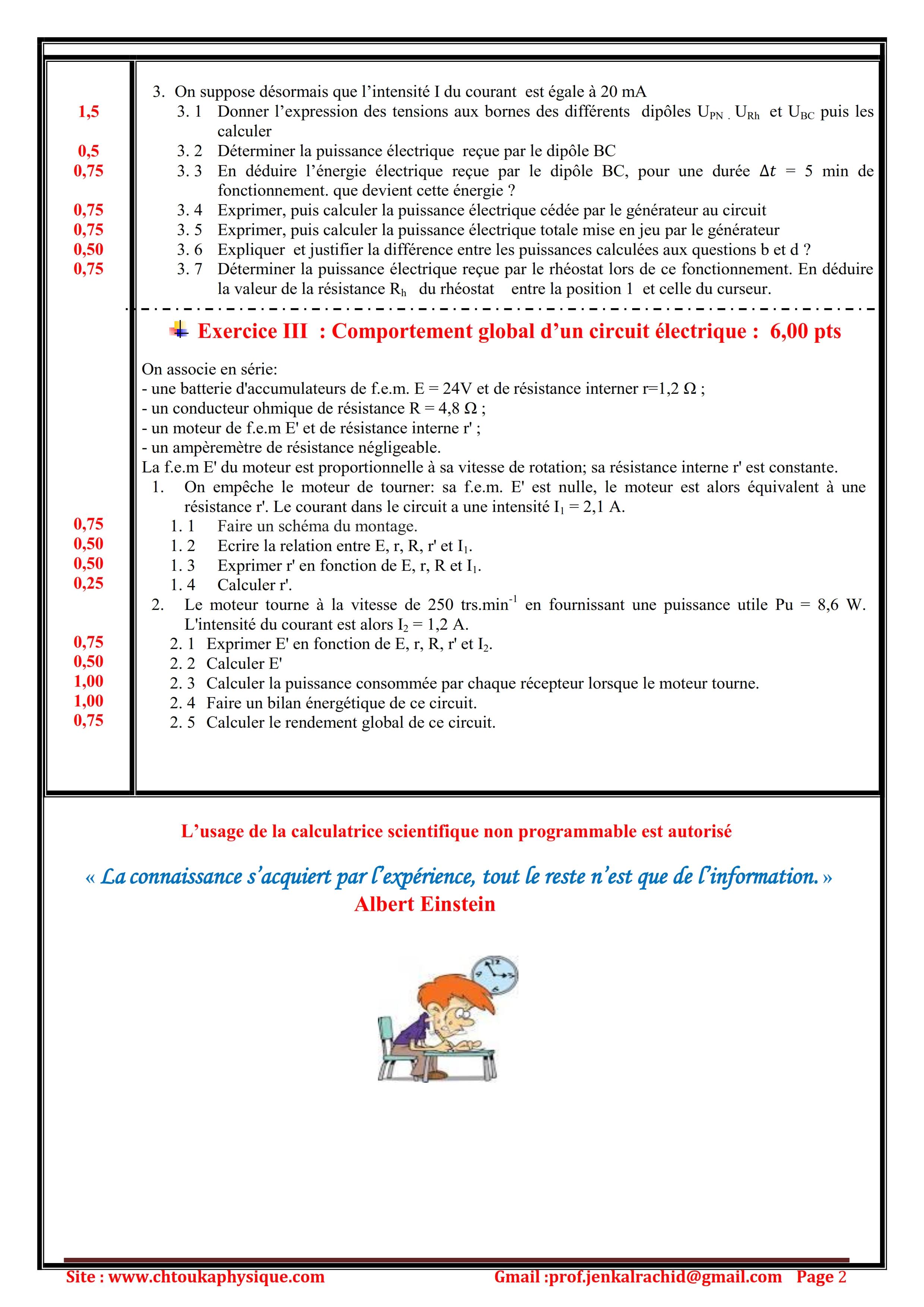devoir oxydoréduction maths sciences