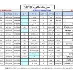 الجدولة الزمنية لاجتياز المباريات بعد البكالوريا 2018  /2019