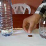 Exp N°2 : Comment faire disparaître une pièce de monnaie sous le verre ?
