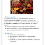 Chapitre  1 : Les espèces chimiques : Activités  et Cours   : TC BIOF