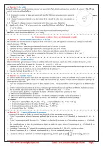 Série d'exercices  1 : Gravitation universelle , TCS  BIOF , Pr JENKAL RACHID