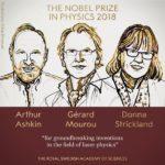 جائزة نوبل للفيزياء لعام 2018 تذهب لصالح ثلاثة علماء في مجال علوم الليزر، بينهم امراة منذ 55 عاما