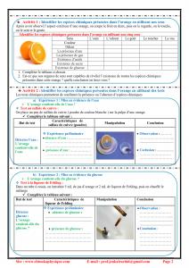 Chapitre 1 : Les espèces chimiques : Activités et Exercices d'application , TCS BIOF , Pr JENKAL RACHID