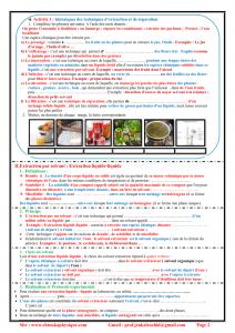 Ch 2 : Extraction, séparation et identification des espèces chimiques , Activités  et Exercices d'application  , TCS BIOF , Pr JENKAL RACHID
