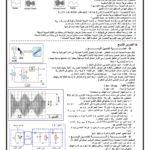 سلسلة شاملة رقم 2 الدورة 2 ( وورد ):  علوم رياضية ، علوم فيزيائية : التذبذبات القسرية ، تضمين الوسع ، التطور التلقائي ، الاعمدة  2018  / 2019