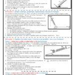 Série 6 : équilibre d'un solide soumis à trois  forces non parallèles , TCS BIOF