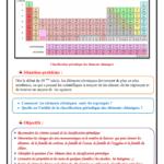 Chapitre 6 : Classification périodique des éléments chimiques , Cours , Activités , Exercices d'application  , TCS BIOF