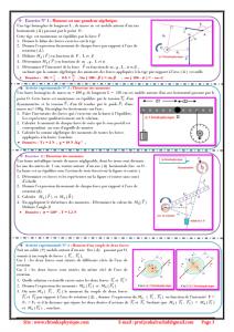 ♣Chapitre 7 : équilibre d'un solide susceptible de tourner autour d'un axe fixe : Activités , Exercices d'application ,TCS BIOF , Pr JENKAL RACHID