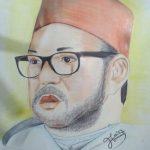 لوحات فنية من ابداعات الموهوب الباهوي  الطالب محمد العمري
