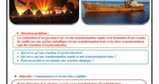 Chapitre 1, Transformations rapides et transformations lentes, Cours , Activités , Exercices d'application , 2BAC BIOF Réalisé par Pr JENKAL RACHID