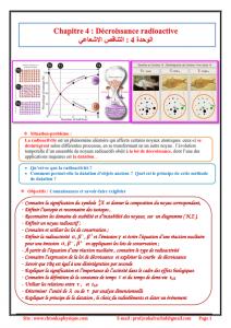Chapitre 4 : Décroissance radioactive ; Cours , Activités et Exercices d'application , 2BAC BIOF , Pr JENKAL RACHID
