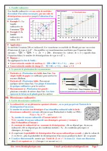 ♣ Chapitre 4 : Décroissance radioactive ; Cours , Activités et Exercices d'application, 2BAC BIOF, Pr JENKAL RACHID,