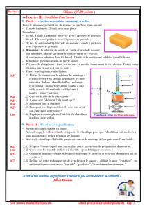 Devoir Surveillé N° 2 semestre 1 : Mouvement , synthèse d'espèces chimiques ,TCS BIOF , 2019-2020 , Pr JENKAL RACHID,