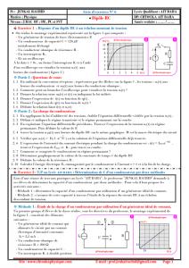Série d'exercices N°6 : Dipôle RC : 2BAC BIOF , SM , PC et SVT , Pr JENKAL RACHID