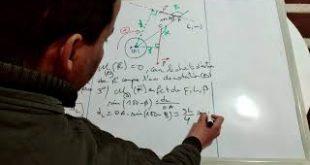 Exercice 1 + correction ( Vidéo ) : Moment d'une force : équilibre d'un solide susceptible de tourner autour d'un axe fixe , TCS BIOF
