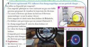 Mouvement d'une particule chargée dans un champ magnétique uniforme ( Vidéo ) : Partie I , 2BAC BIOF ,