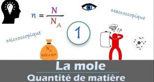 ♣ Chapitre 7 : La mole - Quantité de matière : Cours , Activités , Exercices d'application , TCS BIOF , Pr JENKAL RACHID,
