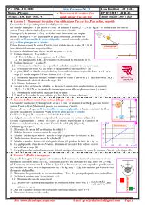 Série d'exercices 15 avec Correction : Mouvement de rotation d'un solide autour d'un axe fixe , 2BAC BIOF , SM , SP ,  Pr JENKAL RACHID