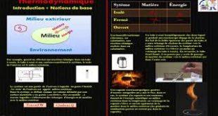 ♣Thermodynamique : Introduction , notions de base : Systèmes thermodynamiques ( vidéo 1 )