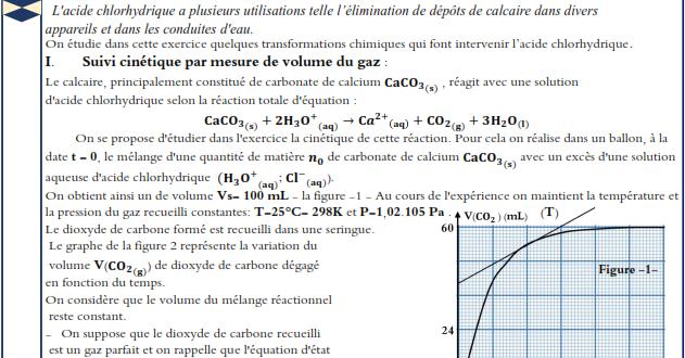الامتحان التجريبي الموحد لمادة الفيزياء والكمياء المسلك الدولي ، خيار فرنسية دورة 2020