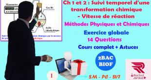 Ch 2 : 2BACBIOF- Suivi temporel d'une transformation chimique - Vitesse de réaction ( Vidéo )(1): Méthodes physiques et chimiques