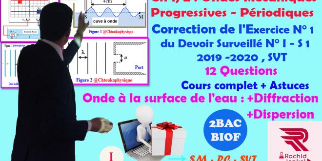 Correction de l'Exercice I du Devoir Surveillé N°1 semestre I , SVT -2019-2020