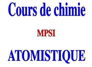 Atomistique : Cours - SMP, SMC , SM , MPSI
