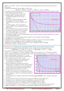 ♣ Série d'exercices 2 : Suivi temporel d'une transformation chimique - vitesse de réaction , 2BAC BIOF , SM , PC et SVT , Pr JENKAL RACHID