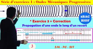 ♣2BAC BIOF - Exercice 3 ( Ressort) + Correction : Série d'exercices 1: Ondes mécaniques progressives (OMP) - Pr JENKAL RACHID