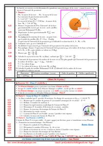 Exercice VI : Modèle de l'atome , Fluor ( 6,00 Pts )