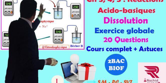 2BAC BIOF - Correction du Devoir Surveillé 2 / 3 semestre I, Chimie -19/20 (1) : PC - SM, SVT, Pr JENKAL