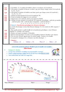 Devoir Surveillé N°1 semestre II - TCS BIOF , Modèle 1 ,  2021-2020 - Pr JENKAL RACHID