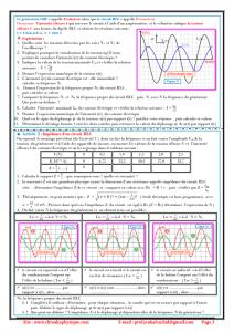 Chapitre 9 : Oscillations forcées  dans un circuit RLC série : Activités , Exercices d'application  , 2BAC BIOF -SM - Pr JENKAL RACHID