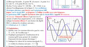 Chapitre 9 : Oscillations forcées dans un circuit RLC série - Cours , Activités , Exercices d'application , 2BAC BIOF SM- Pr JENKAL RACHID