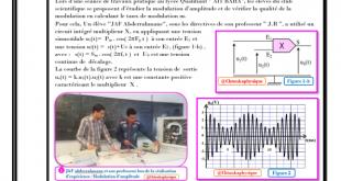 Devoir Surveillé N° 3 semestre II : Plan incliné , Projectile , Modulation , Démodulation , Pile - 2BAC BIOF ,PC - SM , 2020-2021 , Pr JENKAL RACHID