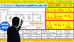 Série d'exercices 11 : ( Exercice 3 + Correction ) Modulation et Démodulation d'Amplitude : 2BAC BIOF - SM , PC , Pr JENKAL RACHID