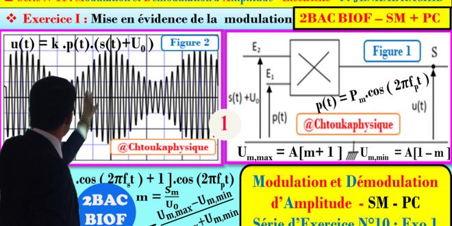 Série d'exercices 11 : ( Exercice 1 + Correction ) Modulation et Démodulation d'Amplitude : 2BAC BIOF - SM , PC , Pr JENKAL RACHID