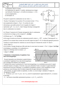 Examen national 2021 - Physique-chimie - 2BAC BIOF - SM : Session Normale