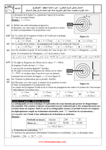 Examen national 2021 - Physique-chimie - 2BAC BIOF - SVT : Session Normale