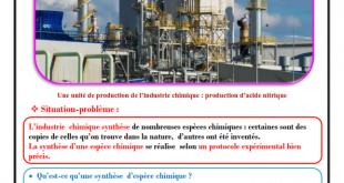 Chapitre 3 : La synthèse d'espèces chimiques , Cours , Activités , Exercice de synthèse ,TCS BIOF , Pr JENKAL RACHID