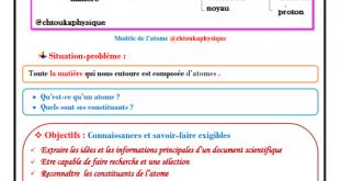 ♣ Chapitre 4 : Modèle de L'atome , Cours , Activités , Exercices d'application ,TCS , BIOF , Pr JENKAL RACHID