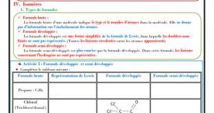 ♣ Chapitre 5 : Géométrie de quelques molécules , Cours : Activités , Exercices , TC BIOF , Pr JENKAL RACHID