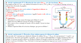 ♣ Chapitre 8 : Transformations forcées , Activités , Exercices d'application , 2BAC BIOF , Pr JENKAL RACHID