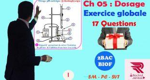 ♣ Chapitre 05 : Réactions acido-basiques , Dosage : Exercice globale + Cours + Astuces , 2BAC BIOF , Partie 1 , Pr JENKAL RACHID,