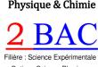 Résumés de cours de physique-chimie , 2BAC BIOF ( www.chtoukaphysique.com)